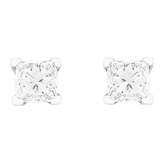 18 CARAT WHITE GOLD AND DIAMOND EARRINGS