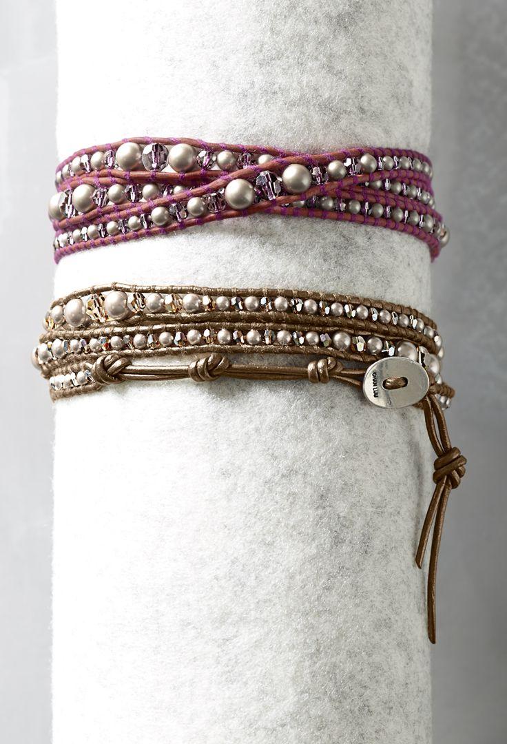 Chan Luu for Garnet Hill Mixed Wrap Bracelets