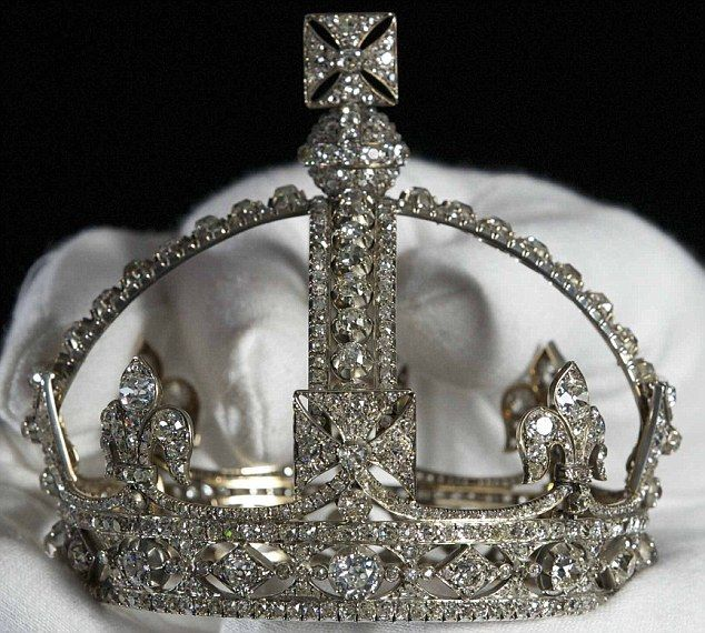 Queen Victoria's small diamond crown was created at the request of Queen Victoria in 1870 as she found the Imperial State Crown too heavy - part of the Crown Jewels in The Tower of London.  ...The Queen 'asks, so shall she receive'...