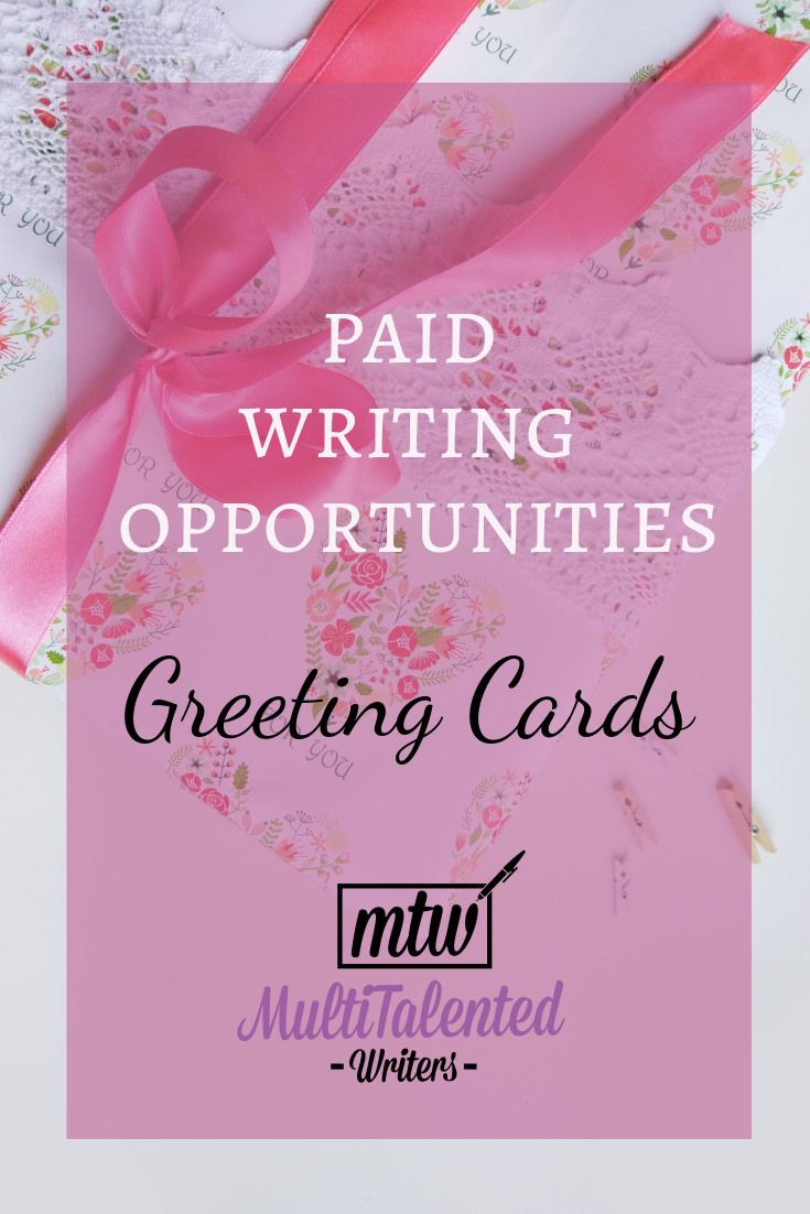 Paid Writing Opportunities Greeting Cards With Images Writing