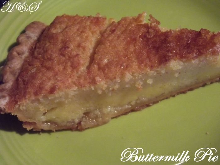 For weeks and weeks my sister has been reminding me not to forget about making a buttermilk pie for her. When my sister called Friday abou...