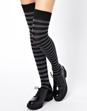 Gipsy Over The Knee Socks in Stripe