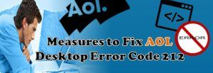 AOL Desktop error code 212 is basically the instant messenger error. It usually generates while sending the email via the messenger by using a platform. It starts from the AOL. When user wants to send an email to any other user but there are some problems by which you are not able to do so.
