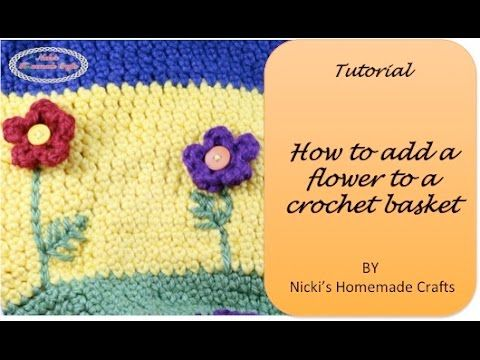 DETAILED TUTORIAL: How to add a Flower to a Basket/Bag