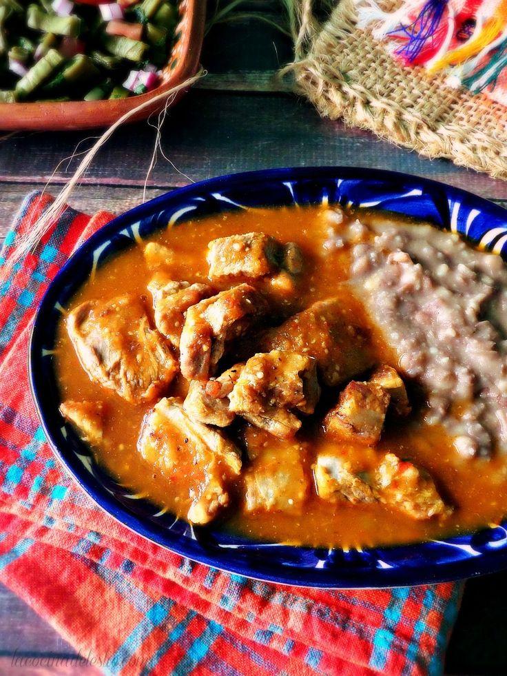 Carne de Puerco con Chile recipe - lacocinadeleslie.com