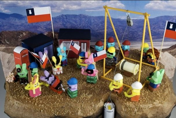 The Chilean Miners ordeal as interpreted by Peeps!