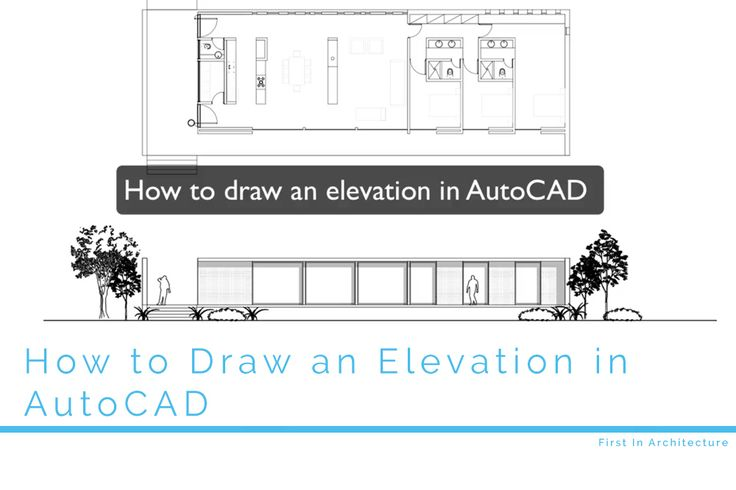how to draw line diagram elevation autocad