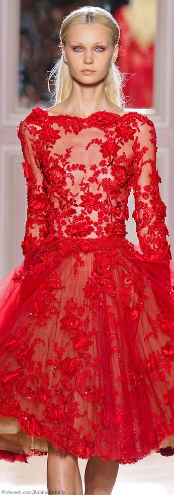 I'd prefer it in beige, but the ornaments are still great! Zuhair Murad | Haute Couture F/W 2012