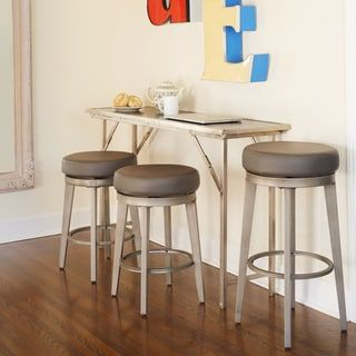 Shop for Angelo:HOME Linden Leather Swivel Stool (Set of 2). Get free shipping at Overstock.com - Your Online Furniture Outlet Store! Get 5% in rewards with Club O! - 20215707