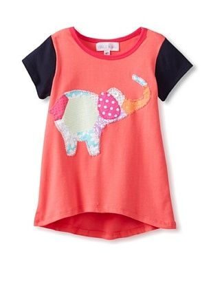 47% OFF Tilly & Jax Girl's Laila Tee (Coral/Navy)