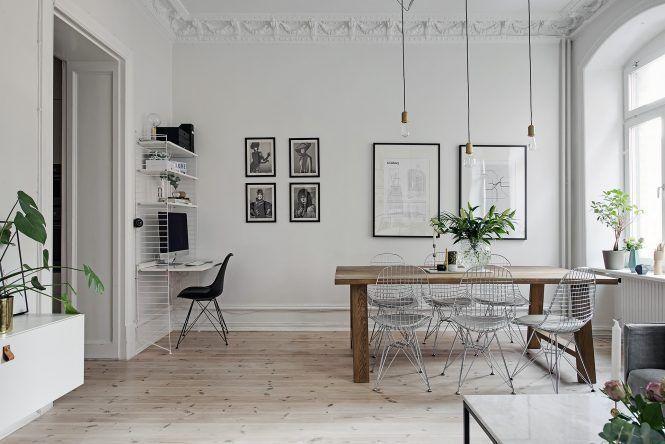 Post: Techos altos en pisos del siglo XIX --> blog decoración, decoración nórdica, diseño interiores, estilo escandinavo, estilo nórdico, pisos antiguos, techos altos, eames, sofá gris, carpet, comedor, salón, interior design, scandinavian interiors, home decor
