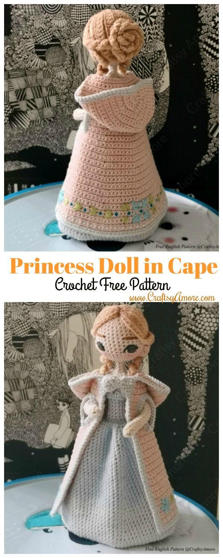 Amigurumi Princess Doll in Cape Crochet Free Pattern – Part 2 Cape