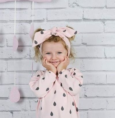 Opaska na głowę zawiązywana dla dziewczynki w OZGA Marta Ozga na DaWanda.com