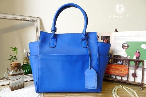 Colbalt Blue Leather Tote only £90 #gifts #fashion