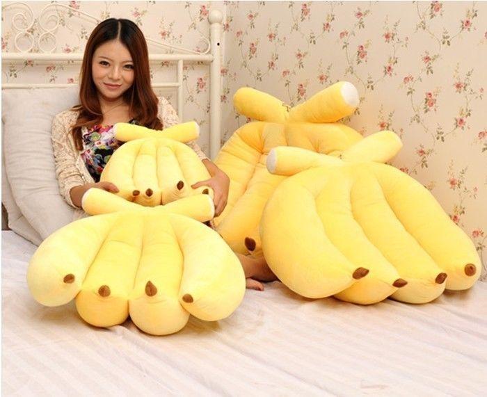 Hot Sale Creative Banana Pillow Backrest Pillow Throw Pillows Plush Toys Pillows