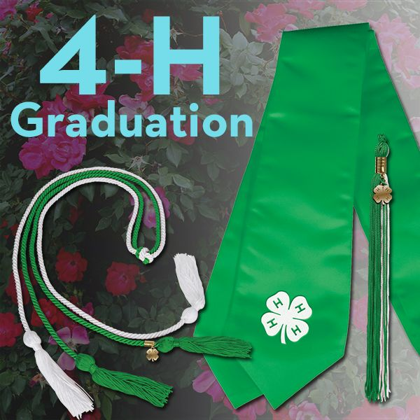 It's graduation season! Honor stoles, cords, and tassels are available on the 4-H Mall. #4HGrad