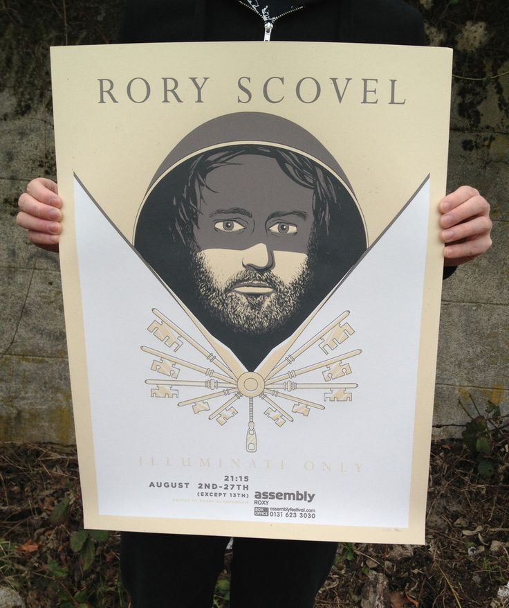 "Rory Scovel ""Illuminati Only"" by Barry the art guy"