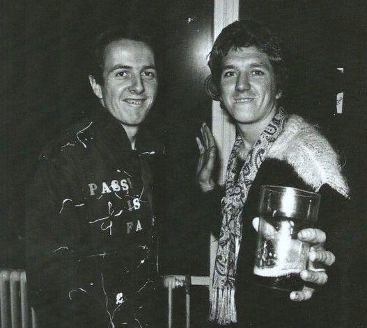 Joe Strummer and Steve Jones
