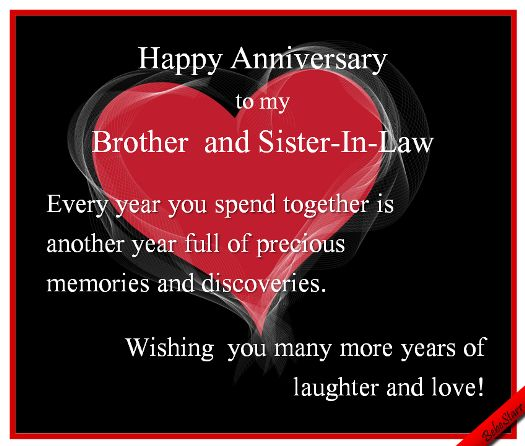 Anniversary Ecard Brother SisterInLaw 123greetings Profile Bebestarr
