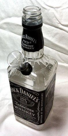 Homemade Jack Daniels bong Repinned by Fun Weed Pics @funweedpics