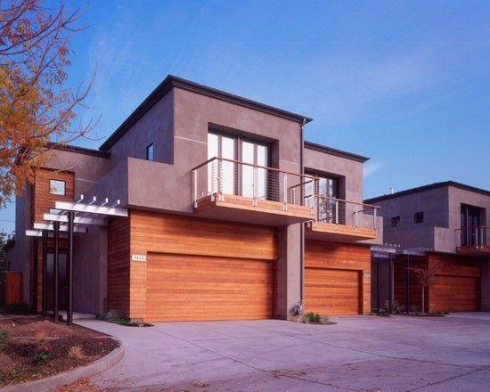 Modern wood siding design garage door curb appeal for Modern horizontal wood siding