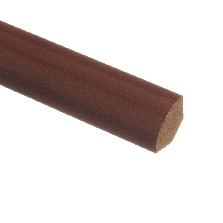 Zamma Santos Mahogany 3/4 in. Thick x 3/4 in. Wide x 94 in. Length Wood Quarter Round Molding-01400701942506 - The Home Depot