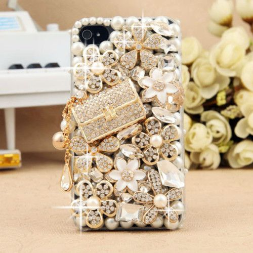 3D Crystals Floral Bling Cell Phone Case for Her 3D Stylish Crystals Phone Cases for iPhone | Samsung Galaxy | iPod Touch | Worldwide Shipping