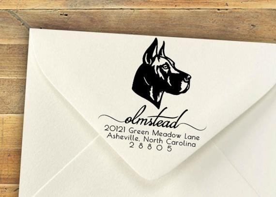 Custom Stamp Great Dane Any Breed Personalized Stamp Custom