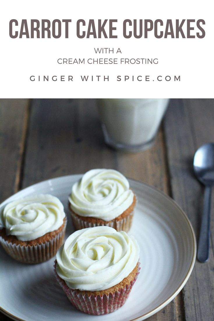 The carrots make these carrot cake cupcakes very moist and the hint of cinnamon goes so well with it. Add cream cheese and we're in heaven. Click for the recipe.
