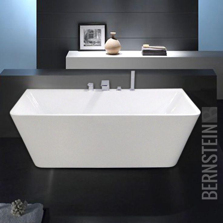 Freistehende Badewanne Acryl VENEZIA weiß - 170x80cm Wannenrandarmatur