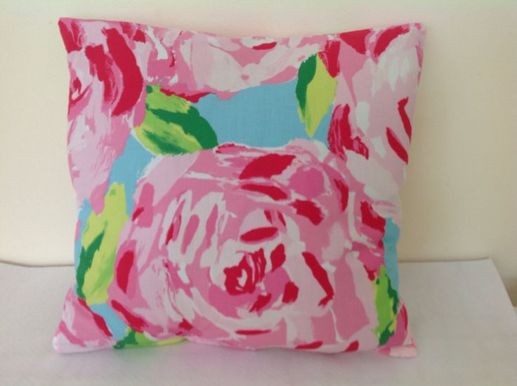 Lumbar Toss Pillows In Lilly Pulitzer Fabric Hotty Pink