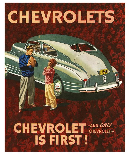 It is super neat to see old Chevrolet ads from the past. Car advertising has changed a lot over time!