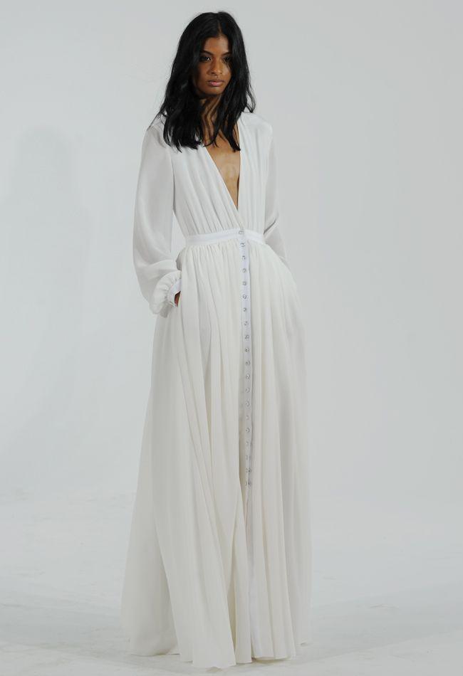 Button Front Wedding Dress | Houghton Wedding Dresses Fall/Winter 2015 | Kurt Wilberding | blog.theknot.com