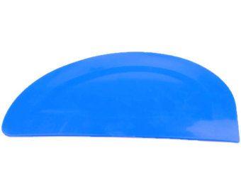 Blu Semi curvo ciotola di plastica flessibile raschietto, pasta per Pizza, carne, pasticceria, torta Making. UK fatto. (S7325) Spedizione gratuita