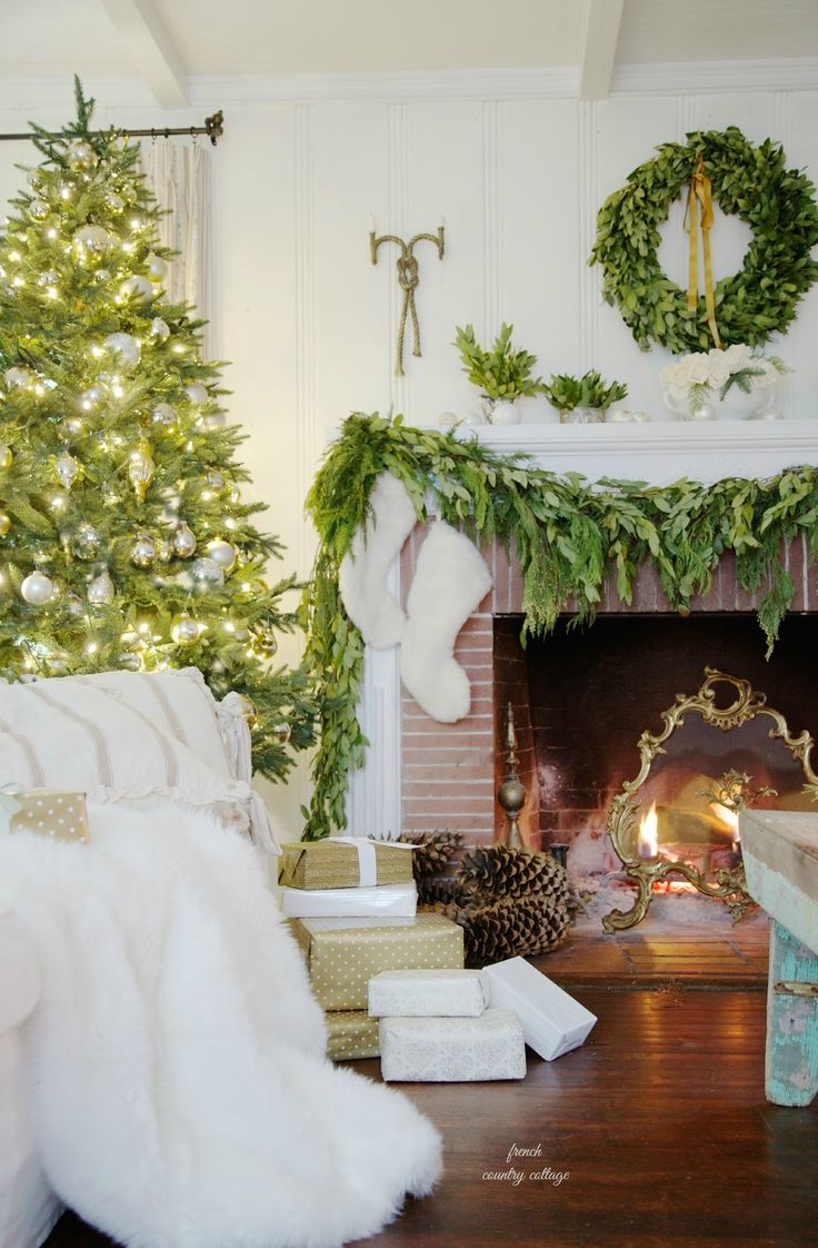 French Country Cottage Christmas ~ Home Tour - FRENCH COUNTRY COTTAGE