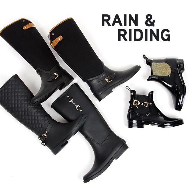 Esta temporada son tendencia las botas de agua de estilo ecuestre para parecer una auténtica amazona bajo la lluvia. #FW15