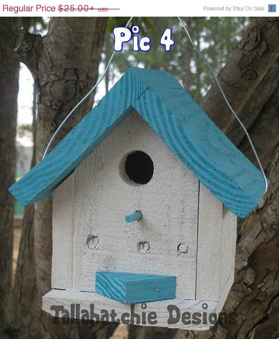 40% OFF TODAY Nautical Birdhouse Driftwood Collection Cottage Style Birdhouse, Cute colorful birdhouse, Beach Birdhouse, Nautical Birdhouse