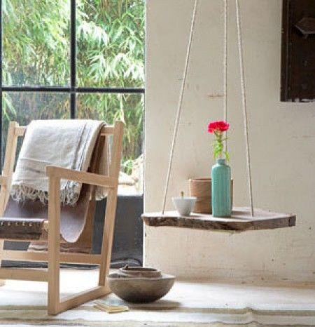 Buiten Tuin | Hangende bijzettafel, leuk voor onder de veranda! Door pieneke