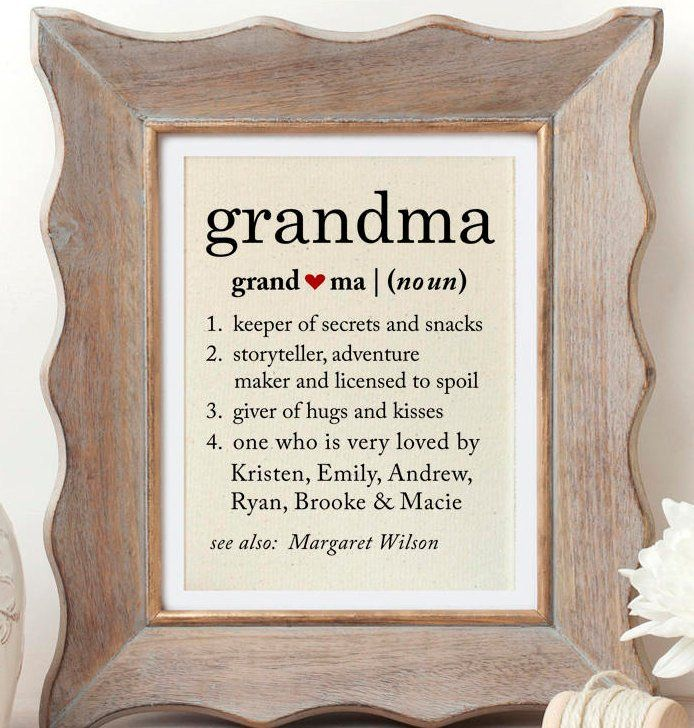Grandma Definition Of Grandma Gift For Grandmother Gifts