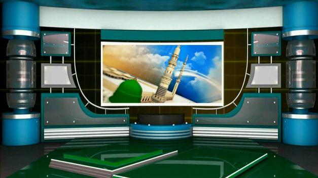 Islamic Virtual Studio Green Screen Video Tv Studio Background Animatio Screen Green Screen Desain