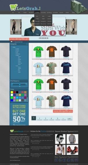Online Clothing Shop Web Theme
