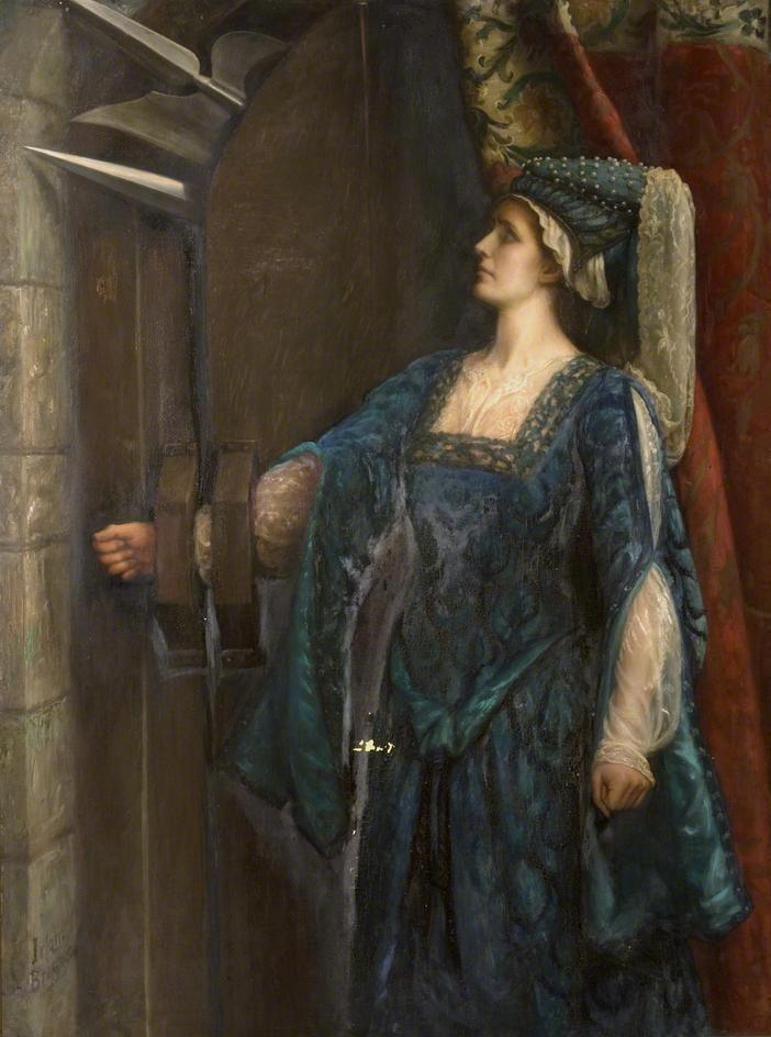 Emma Irlam Briggs    The barred door