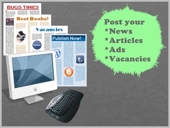 We help to post your news, articles, ads or vacancies to news portals, websites or blogs