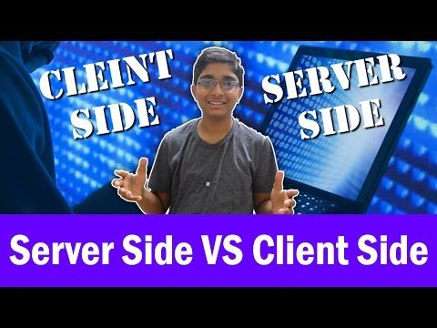 The difference between Server Side Scripting and Client Side Scripting - IQubex