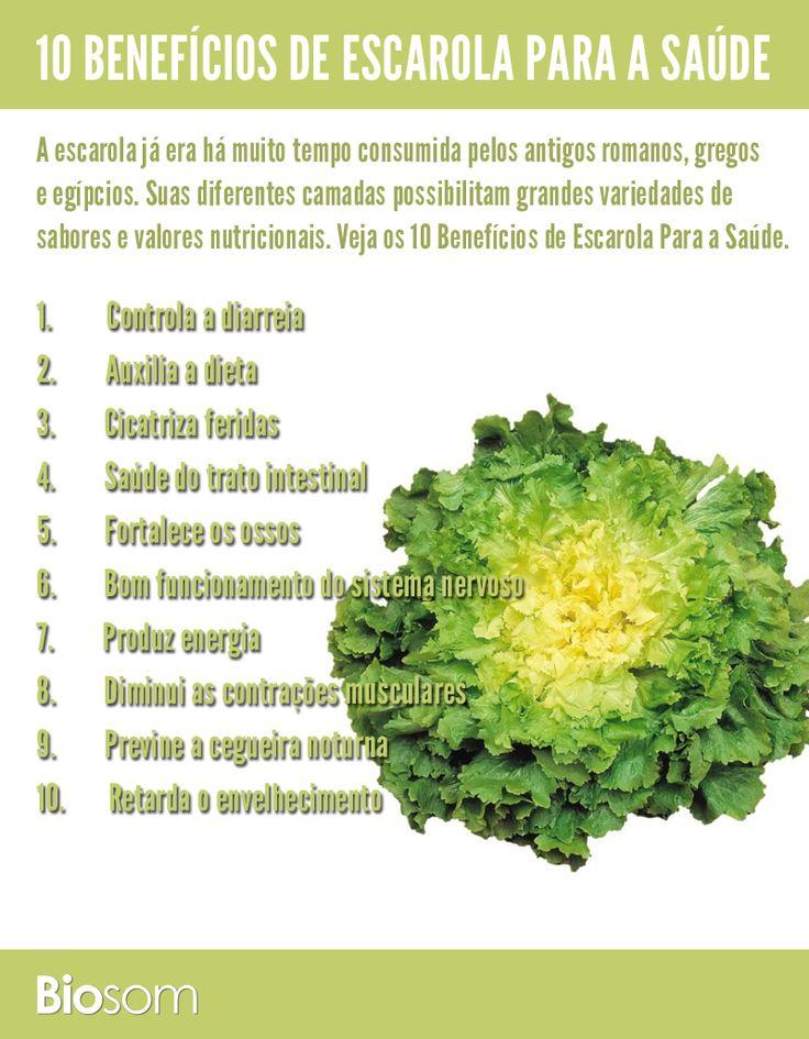 Clique na imagem ao lado e veja 10 benefícios da #escarola para a #saúde…