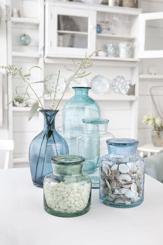 Trend: vazen van gekleurd glas