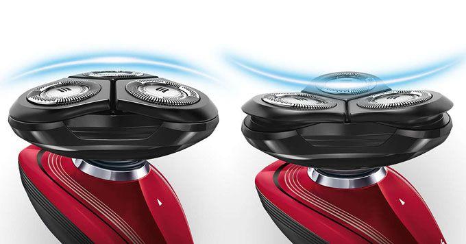 sistem de ras cu capete rotative la Philips RQ1167