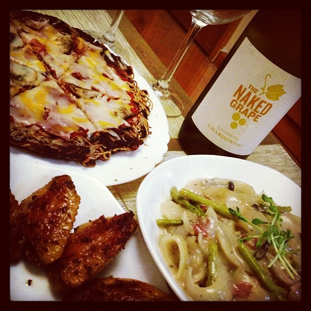 Soba Pizza+Angel hair+Chicken Wings