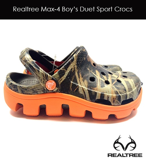 New Realtree Max-4 Camo Crocs For Boys -   Duet Sprot Crocs $39.99