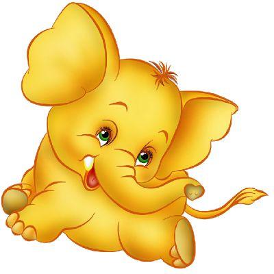 ♥♥ ʕ •́؈•̀ ₎ Baby Elephant's Funny - Elephant Cartoon Clip Art. ʕ •́؈•̀ ₎